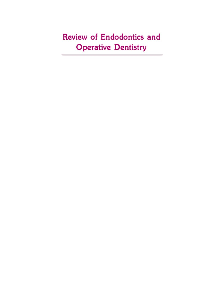 Review of endodontics and operative dentistry dentin human tooth ccuart Image collections