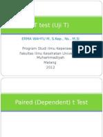 T test (Uji T)