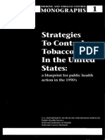 1. Strategies to Control the USe of Tobacco in US