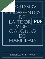 Fundamentos de La Teoria y Del Calculo de Fiabilidad1