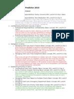 ATI Predictor 2010 Topics to Review