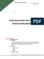 Especificaciones Tecnicas de Trabajos Preliminares