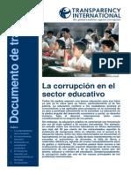 Transparency International 2007 Corrupcion en El Sector Educativo
