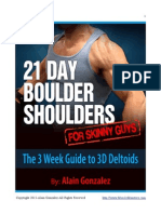 21 Day Boulder Shoulders