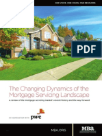 Dynamics of the Mortgage Servicing Landscape