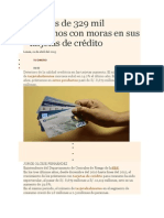 Hay Más de 329 Mil Peruanos Con Moras en Sus Tarjetas de Crédito_1018