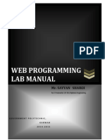 Web Programming Lab Manual