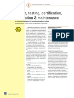 03 Design Testing Certification Installation and Maintenance in India Ex-Magazine 2011 Low