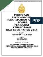 Peraturan Pertandingan Perkhemahan Kadet Bomba Dan Penyelamat 2014
