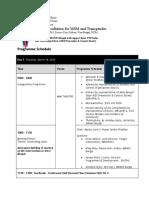 MANAS BANGLA MSM TG Consultation Programme Schedule