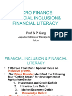 micro  finance and financial inclusion