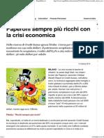 Paperoni Sempre Più Ricchi Con La Crisi Economica - Repubblica.it