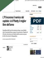 L' Ft Incorona Il Nemico Del Capitale- è Di Piketty Il Miglior Libro Dell'Anno - Repubblica.it