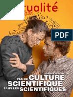 Tiré à part de L'Actualité n°110 spécial Assises de la culture scientifique en Poitou-Charentes