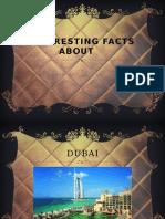 INTERESTING FACTS ABOUT DUBAI