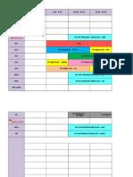 Jadual Waktu Bagi Semester I Sesi 2015.2016