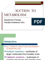 Intro to Metabolism