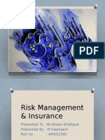 Private Insurance in the Financial Services Industry by M Hashaam