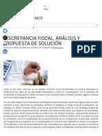 1. Discrepancia Fiscal, Análisis y Propuesta de Solución