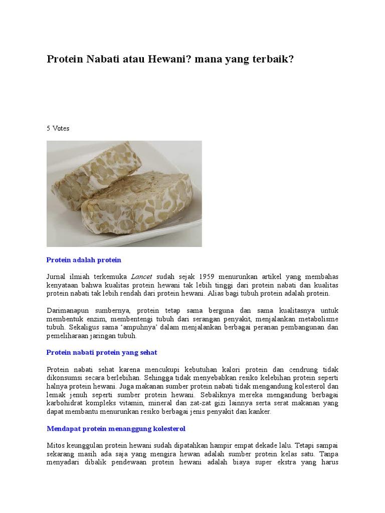 Protein Nabati Atau Hewani
