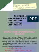 ENERGI GIBBS PEMBENTUKAN STANDAR
