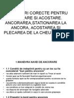 Proceduri Corecte Pentru Ancorare