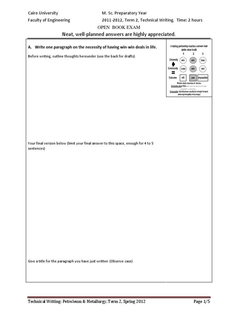 Technical Language Exam Techwritingmscjune2012