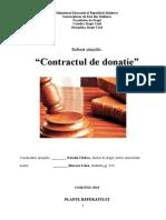Contractul de donatie