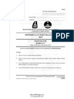 Soalan Trial SPM 2015 Mathematics Kelantan