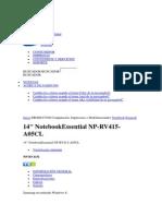 14 Notebookessential Np-rv415-A05cl - Características Samsung