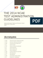 2014 NCAE Test Admin Guidelines-Ms. Dolly Pagatpatan
