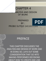 Chapter 4 - The Analysis and Design of Work