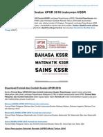Format Dan Contoh Soalan UPSR 2016 Instrumen KSSR