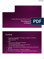 Phonology and MorphologyWeek1