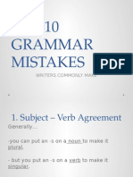 TOP 10 Grammar Mistakes