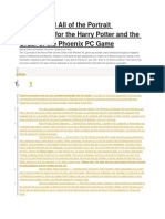 Harry Potter 5 Portrait Solutions