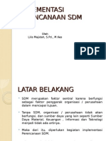 IMPLEMENTASI SDM