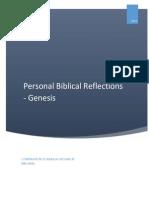 Personal Bible Reflections - Genesis