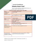 Formulir Pendaftaran SBC