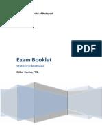 Statistics Exam Booklet