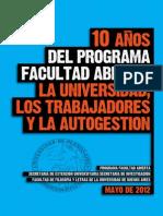 La Universidad Trabajadores y Autogestion