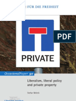 Liberalism, liberal policy and private property