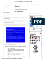2 Cara Mengatasi Blue Screen Pada Windows 7 [INFO - TIPS TRIK]