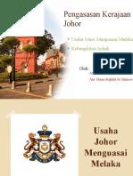 Pengasasan Kerajaan Johor