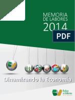 Memoria de Labores 2014 Bolsa de Valores