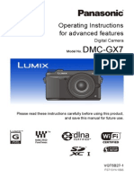 Guide Eng for the Operation of the GX7 Camera