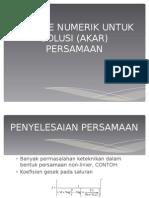 Solusi Akar Persamaan - 2013