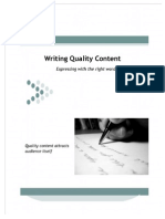 How to Write Quality Targeted Content