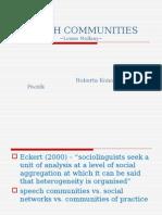 Speech Communities