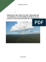 Proposta de Criacao de Unidades de Conservacao Em Terras Publicas No Sul Do Amazonas Final